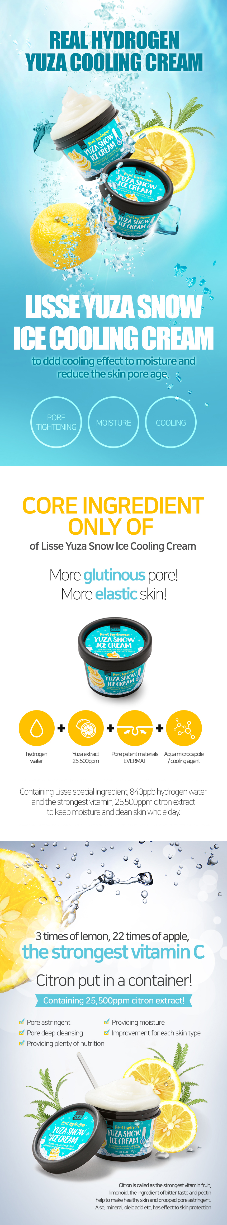 Lisse Yuza Snow Ice Cooling Cream