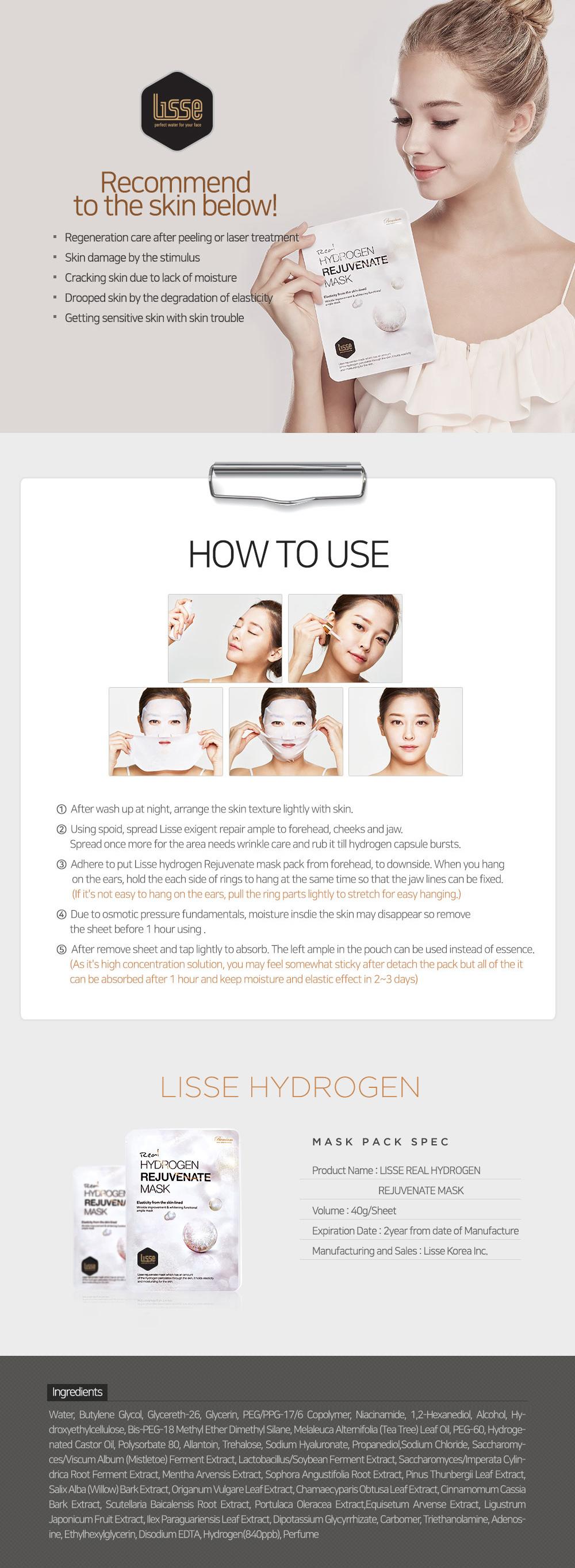 Lisse Real Hydrogen Rejuvenate Mask
